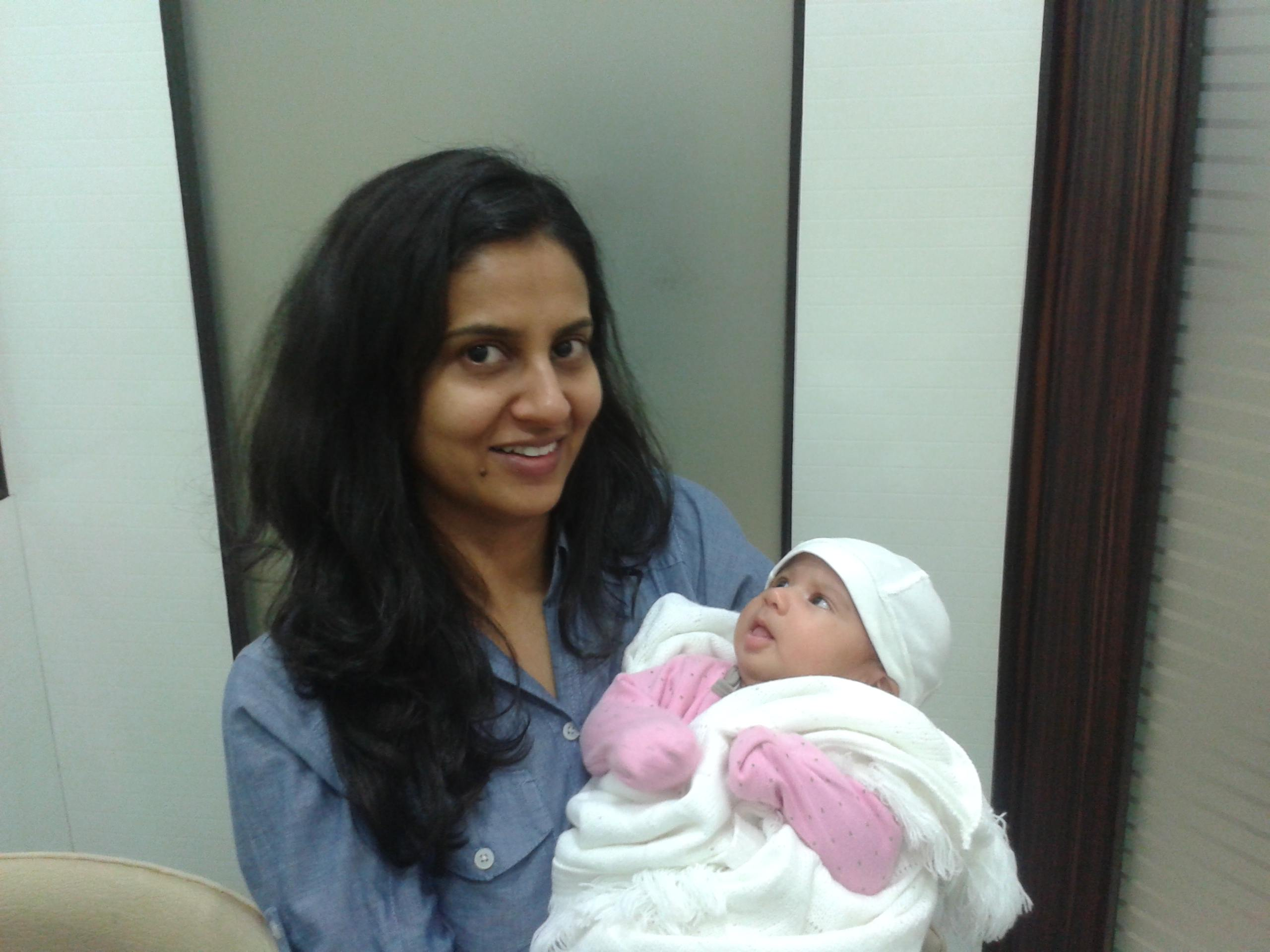 Harsimran with Baby Noor