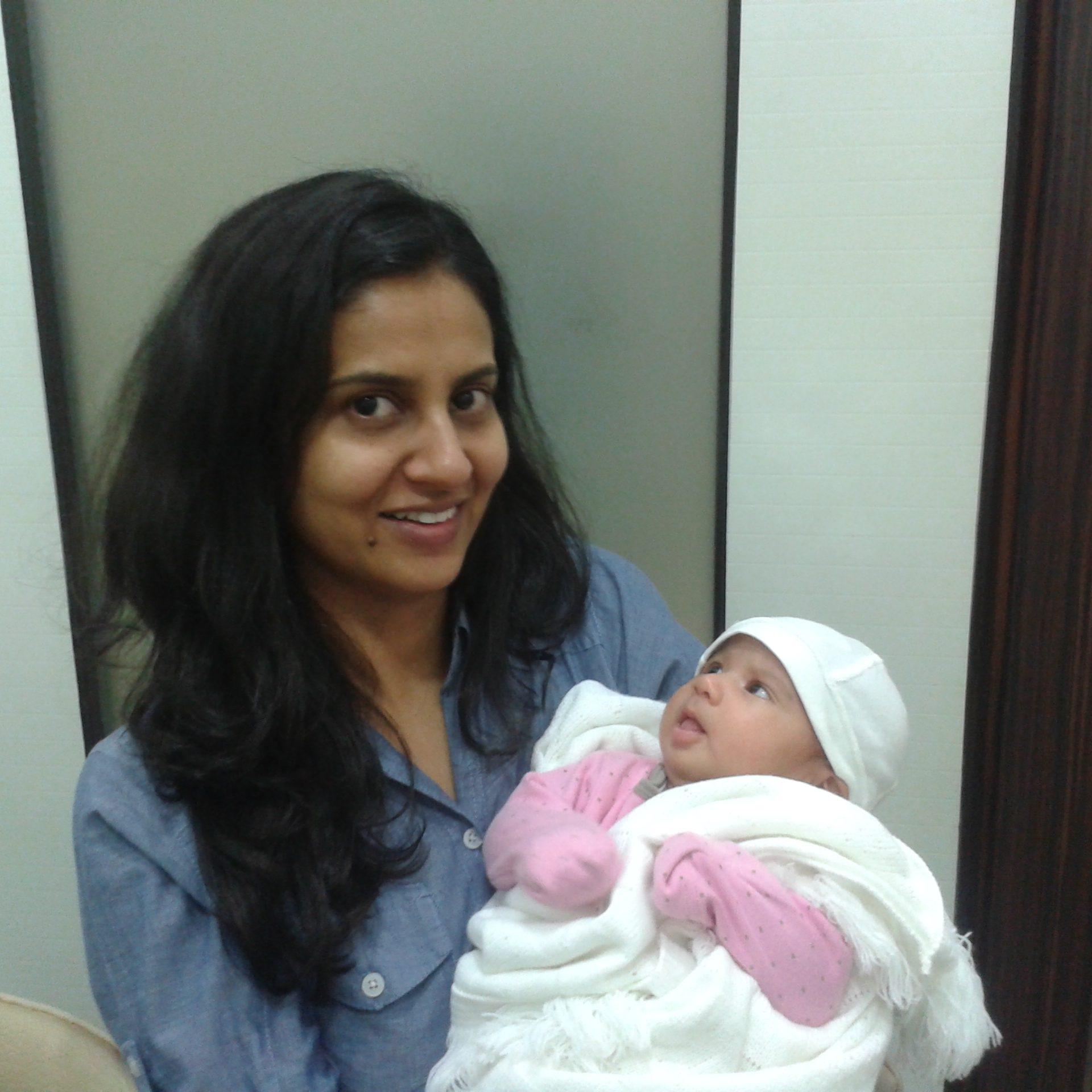 Harsimran with Baby Noor